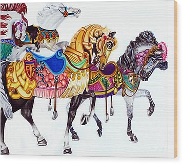 Parade Wood Print by Bette Gray