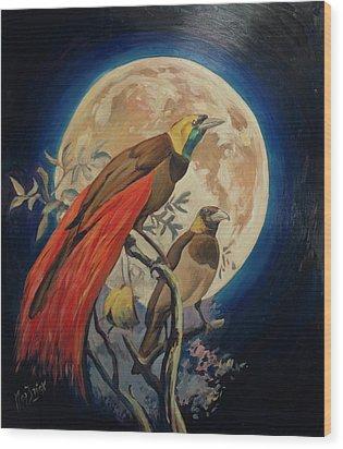 Paradise Birds Wood Print by Nop Briex