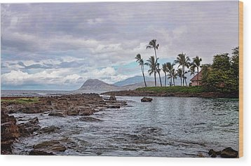 Wood Print featuring the photograph Paradise Cove Lagoon by Heather Applegate
