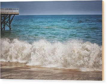 Paradise Cove Wood Print by Tricia Marchlik