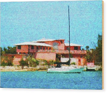Paradise For Sale Wood Print by Rob Tullis