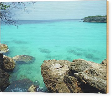 Wood Print featuring the photograph Paradise Island, Curacao by Kurt Van Wagner