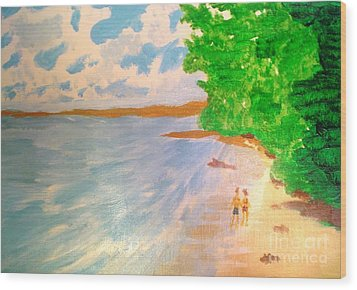 Paradise Island Wood Print by Josie Weir