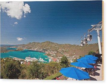 Paradise Point View Of Charlotte Amalie Saint Thomas Us Virgin Islands Wood Print by George Oze