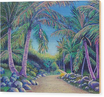 Paradise Wood Print by Susan DeLain