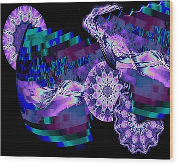Wood Print featuring the digital art Paradisio by Charmaine Zoe
