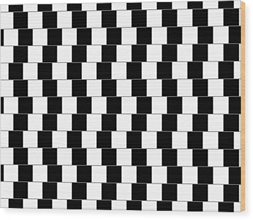 Parallel Lines Wood Print by Michael Tompsett