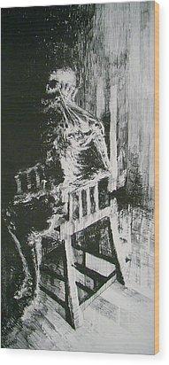 Paranoiac Wood Print by Nathan Bishop