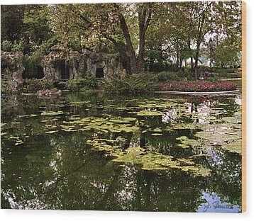 Parc Du Champ De Mars Wood Print by Joe Bonita