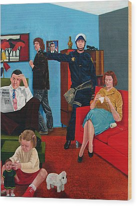 Parenting In The Sixties Wood Print by Cecil Williams