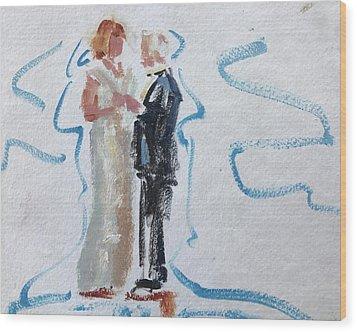 Parents Of The Bride Wood Print