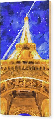 Wood Print featuring the mixed media Paris Ascending by Mark Tisdale