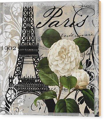 Paris Blanc I Wood Print
