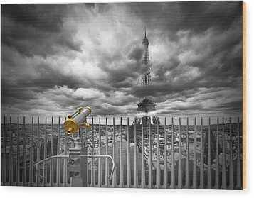 Paris Composing Wood Print