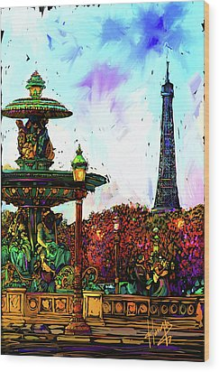 Paris Wood Print by DC Langer