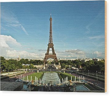 Paris Wood Print by Dian Qi
