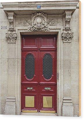 Paris Doors No. 17 - Paris, France Wood Print by Melanie Alexandra Price