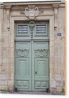 Paris Doors No. 29 - Paris, France Wood Print