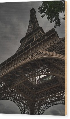 Wood Print featuring the photograph Paris - Eiffel Tower 003 by Lance Vaughn