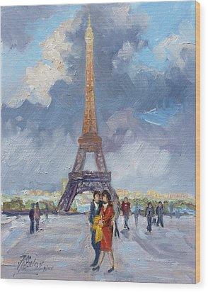 Paris Eiffel Tower Wood Print
