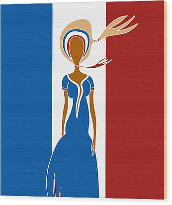 Paris Fashion Wood Print by Frank Tschakert