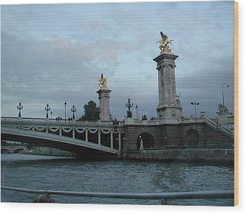 Paris In August Wood Print