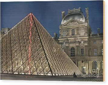Paris Louvre Wood Print by Juli Scalzi