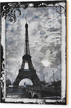 Paris Wood Print by Marianna Mills