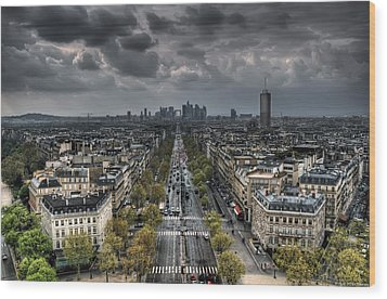 Paris No. 2 Wood Print by Ryan Wyckoff