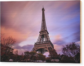 Paris Pastels Wood Print by Jennifer Casey