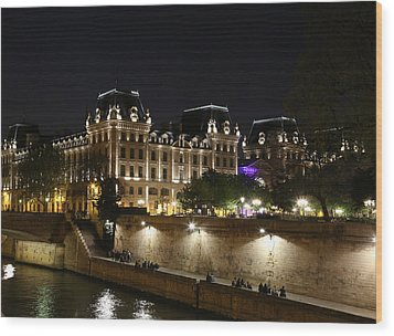 Wood Print featuring the photograph Paris Police Headquarters by Andrew Fare
