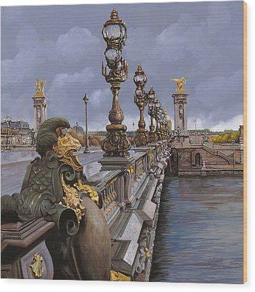 Paris-pont Alexandre IIi Wood Print by Guido Borelli