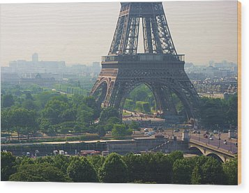 Paris Tour Eiffel 301 Pollution, Pollution Wood Print by Pascal POGGI