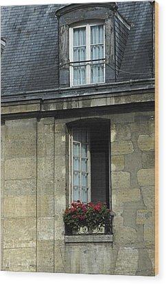 Paris Window Wood Print