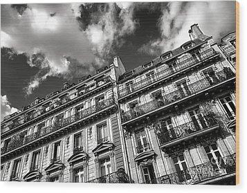 Parisian Buildings Wood Print by Olivier Le Queinec