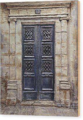Parisian Door No.40 Wood Print