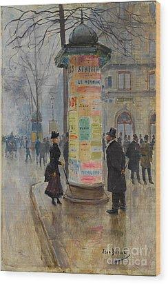Parisian Street Scene Wood Print by John Stephens