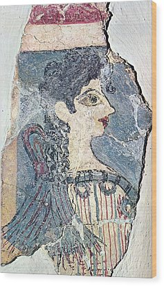 Parisiene Wood Print by Andonis Katanos