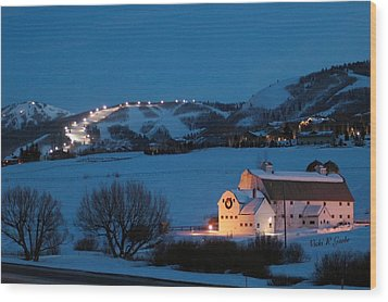 Park City Mcpolin Barn Wood Print by Vicki Gaebe