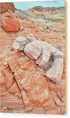 Wood Print featuring the photograph Park Road Sandstone In Valley Of Fire by Ray Mathis