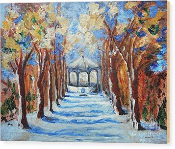 Park Zrinjevac Wood Print
