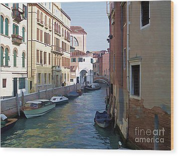 Wood Print featuring the photograph Parked In Venice by Roberta Byram