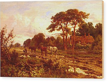 Parker Henry H The End Of The Day Wood Print