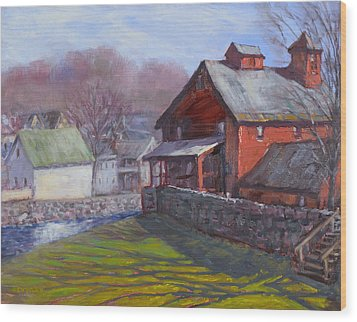 Parker Mill In April Wood Print