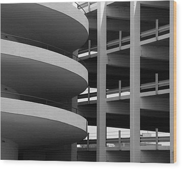 Parking Garage Wood Print by David April
