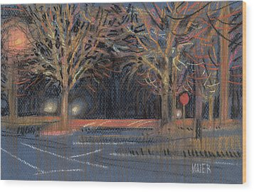 Parking Lot Wood Print by Donald Maier