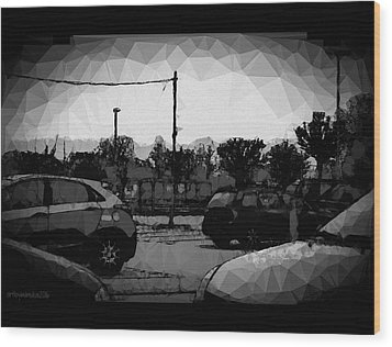 Wood Print featuring the photograph Parking by Mimulux patricia no No