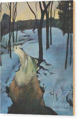 Parlee Farm Sunset Creek Wood Print