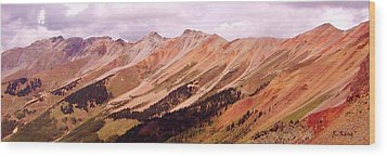 Wood Print featuring the photograph Part Of The San Juan Mountains Colorado by Roena King
