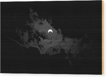 Partial Eclipse Wood Print